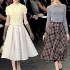 Mode diaoprama tendance beige jupe genou