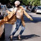 Mode diaoprama tendance beige manteau camel