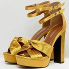 Sandales jaune safran Glamorous