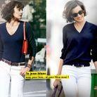 Mode diaporama look tendance ines de la fressange nine jean blanc
