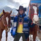 Chapeau de cow boy en hiver
