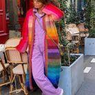 Long gilet multicolore