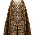 Jupe léopard lamé Sara Battaglia