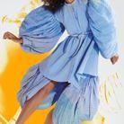 La robe aux manches bouffantes