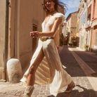 La robe longue ceinturée