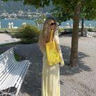 Robe et sac jaune