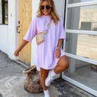 Robe t shirt couleur lilas