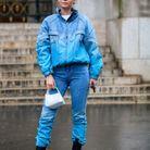Total look jean et bottines noires