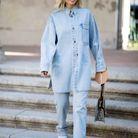 Total look chemise oversize en jean