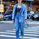 Jean slouchy + blazer en jean