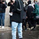 Jean slouchy + bottes noires