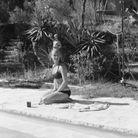 Romy Schneider sur le tournage de La Piscine