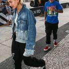 Justin Bieber et Hailey Baldwin portant le même jogging
