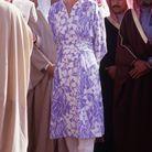 La robe bleue imprimée de Lady Diana