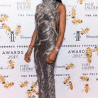 Robe grise Versace, Naomi Campbell 2015