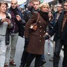 Emmanuel et Brigitte Macron avec les habitants de Honfleur