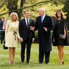 Brigitte Macron a joué la carte des couleurs printanières pour cette visite aux Etats-Unis