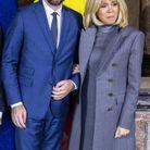 Brigitte Macron en compagnie du premier ministre belge
