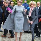 Brigitte Macron et la reine Mathilde en visite