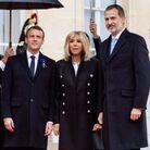 Brigitte et Emmanuel Macron à l'Elysée