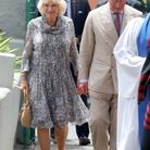 Camilla Parker Bowles en robe courte