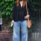 Julianne Moore en jean boyfriend large