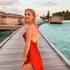 Chiara Ferragni sexy en petit robe rouge