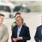 Princesse Diana avec blazer et chemise