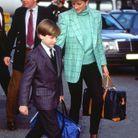 Princesse Diana en blazer imprimé à carreaux