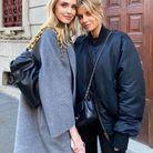 Chiara Ferragni et son sac Bottega Veneta noir