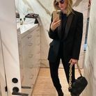 Rosie Huntington-Whiteley et son sac bottega veneta noir