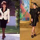 Alexis Carrington en Moschino