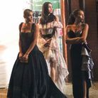 Zión Moreno, Jordan Alexander et Savannah Smith en robes de créateurs