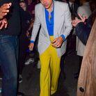 Harry Styles dans un ensemble Gucci de l'été prochain