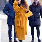 Irina Shayk  et son manteau peignoir