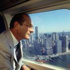 Jacques Chirac dans l'avion