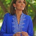 Kate Middleton et sa blouse bleue