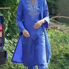 Kate Middleton et sa tenue bleue