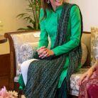 Kate Middleton et sa tenue verte