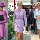 Les tailleurs colorés à épaulettes de Lady Di
