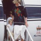 La princesse Diana et son pull bleu marine