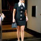 Lady Gaga en robe noire Andrew GN