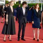 Laurence Arné en sublime robe trapèze
