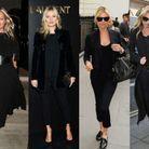 Le total look noir de Kate Moss