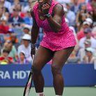 Serena Williams en robe panthère rose à l'US Open de 2014