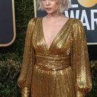 Glamour en robe gold lamé