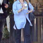 Chemise et pantalon oversize pour Mary-Kate Olsen