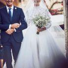 Chiara Ferragni dans sa première robe de mariée signée Maria Grazia Chiuri pour Dior