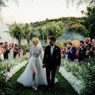 Chiara Ferragni dans sa robe de mariée Dior