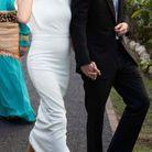 Meghan Markle enceinte en robe moulante blanche
